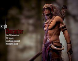 3D asset Kasqir Character