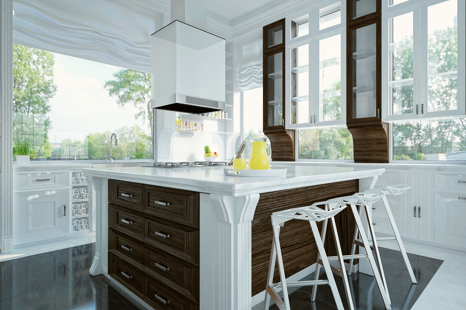 ... Royal Kitchen Design Interior 3d Model Max 2 ...