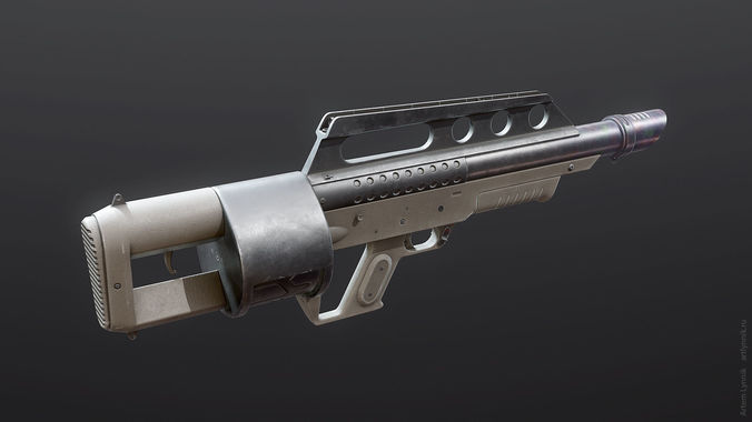 pancor jackhammer shotgun 3d model max obj mtl 3ds fbx tga unitypackage prefab 1