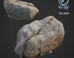 3d scanned nature stone 42 game-ready
