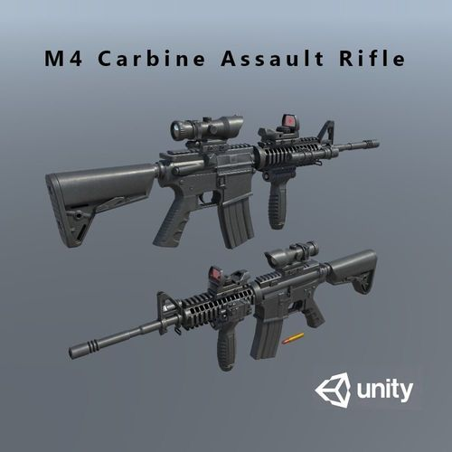 3d model m4 carbine assult rifle cgtrader