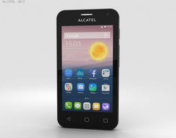 Alcatel OneTouch Pixi First Silver 3D