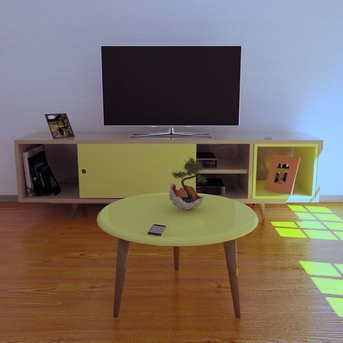 furniture room tv stand retro from the 50s  3d model obj mtl blend 1