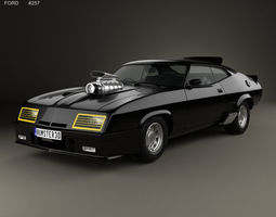 3D Ford Falcon GT Coupe Interceptor Mad Max
