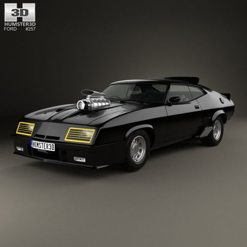 3d ford falcon gt coupe interceptor mad max. Black Bedroom Furniture Sets. Home Design Ideas