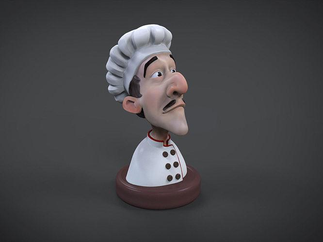 cook 3d printable figure 3d model stl wrl wrz 1