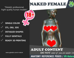 3D Naked Girl Printable N1-02