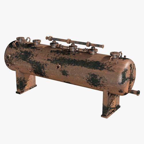 metal rusty industrial boiler 3d model obj 3ds fbx c4d dxf dae 1