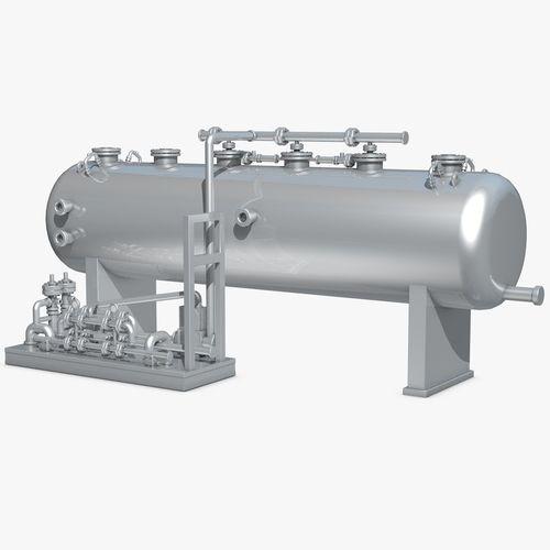 industrial metal storage equipment 3d model obj mtl 3ds fbx c4d dxf dae 1