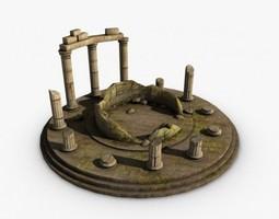 ancient temple ruins 3d model