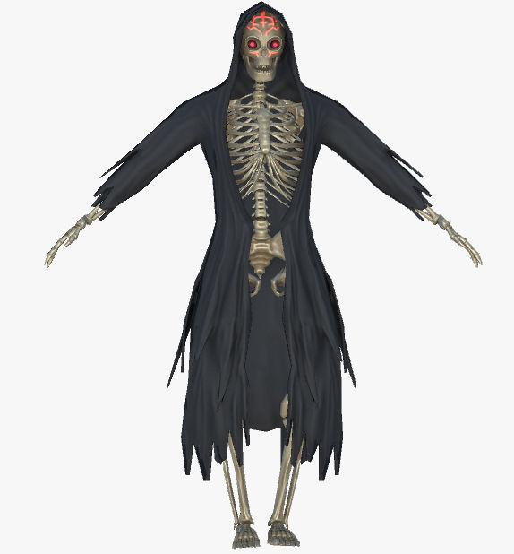 dracon85 Grim Reaper Skeleton Model