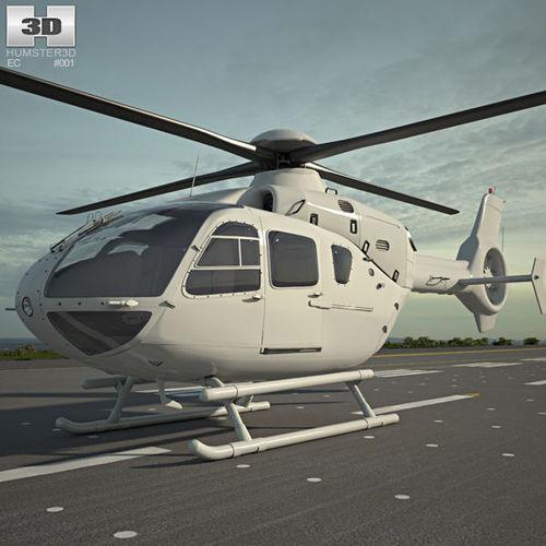 eurocopter ec135 3d model max obj mtl 3ds fbx c4d lwo lw lws 1