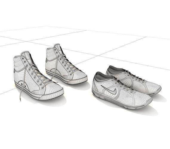... sport shoes 2 3d model max obj fbx mtl 10 ... cc6c21c5b