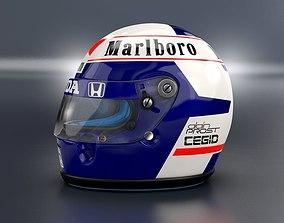 1989 Alain Prost race helmet 3D model alainprost