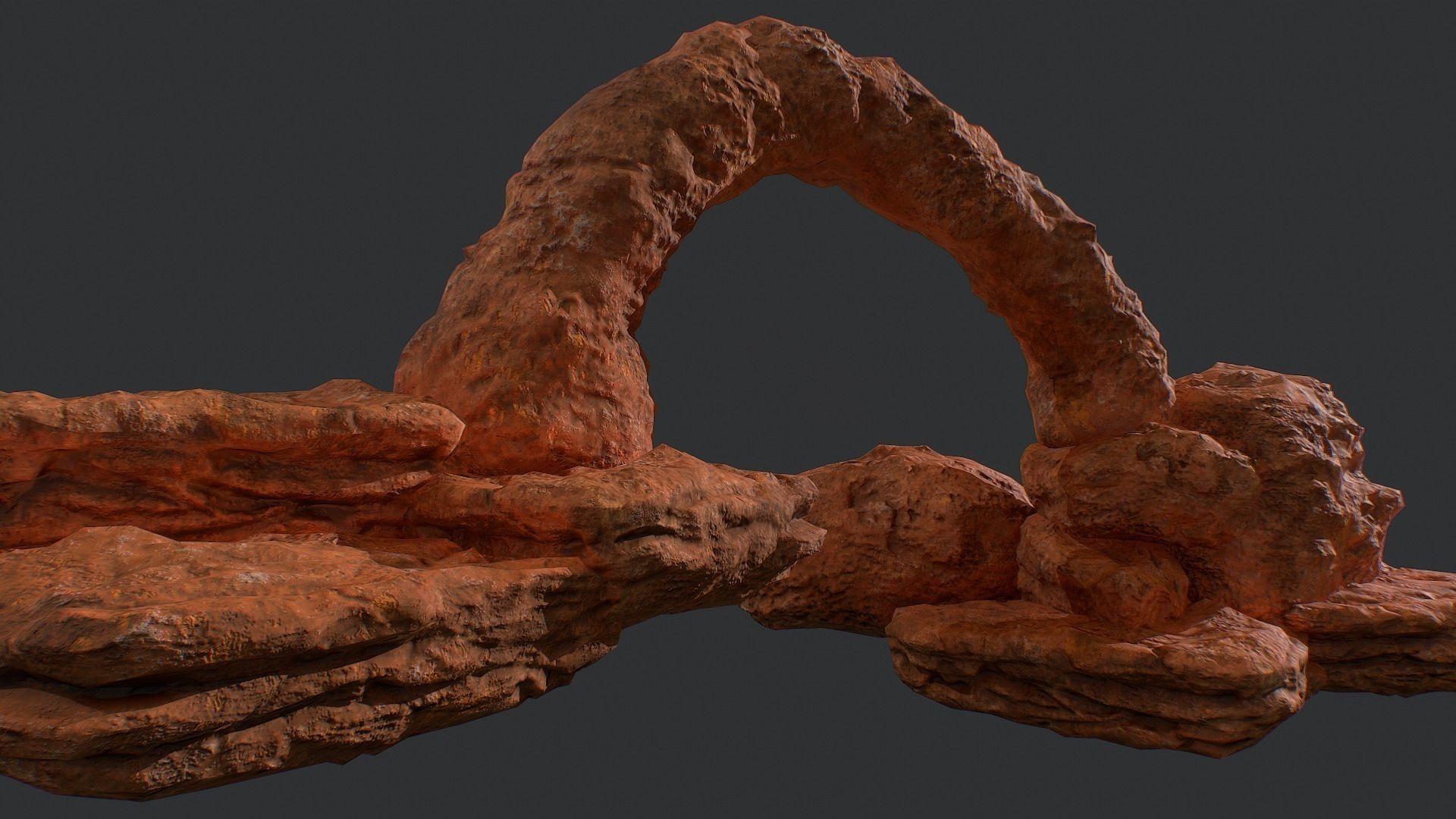Low poly modular canyon rocks environment assets