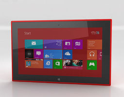3d nokia lumia 2520 red