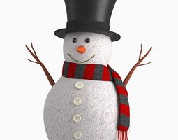 3D Cute Snow Man Figurine V2