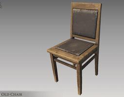 Old Chair 3D asset VR / AR ready