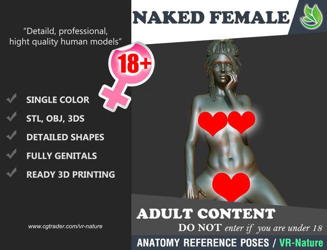 3d naked girl printable a1-015 3d model obj mtl 3ds stl 1