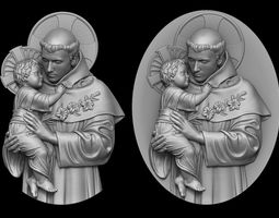 Saint Anthony Medallion and Pendant 3D printable model