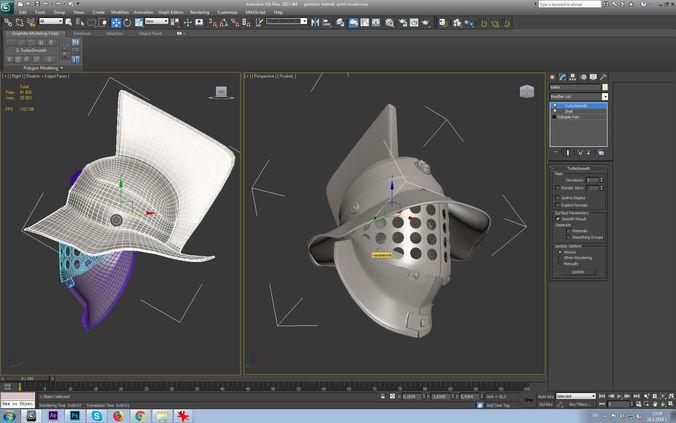 gladiator helmet-3d print model 3d model max obj mtl stl 1