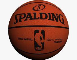 official nba basket ball 3d model max obj 3ds fbx ma mb blend