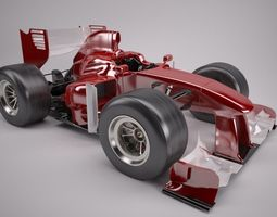 Cartoon open wheeled racing car 3D model