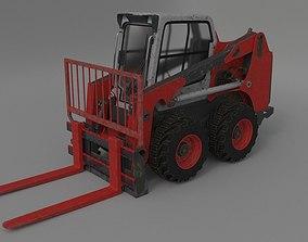 Rigged BobCAT Steer Forklift 3D