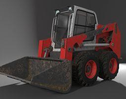 3D model Rigged BobCAT Steer Digger