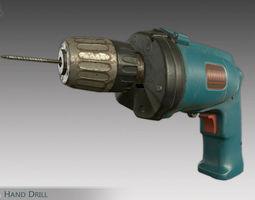 Hand Drill 3D asset
