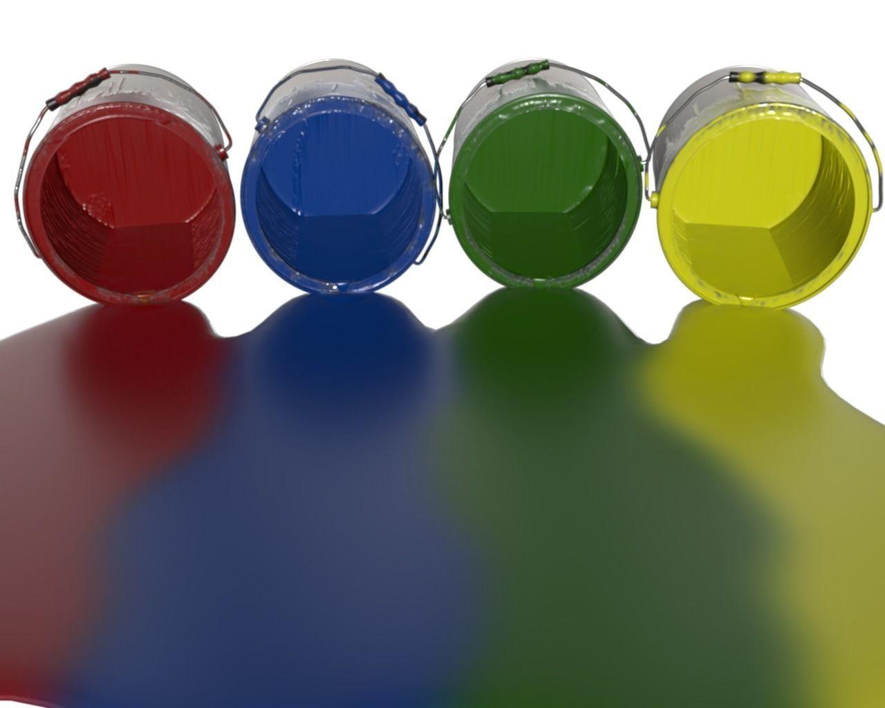 Spilled Paint 4 colors