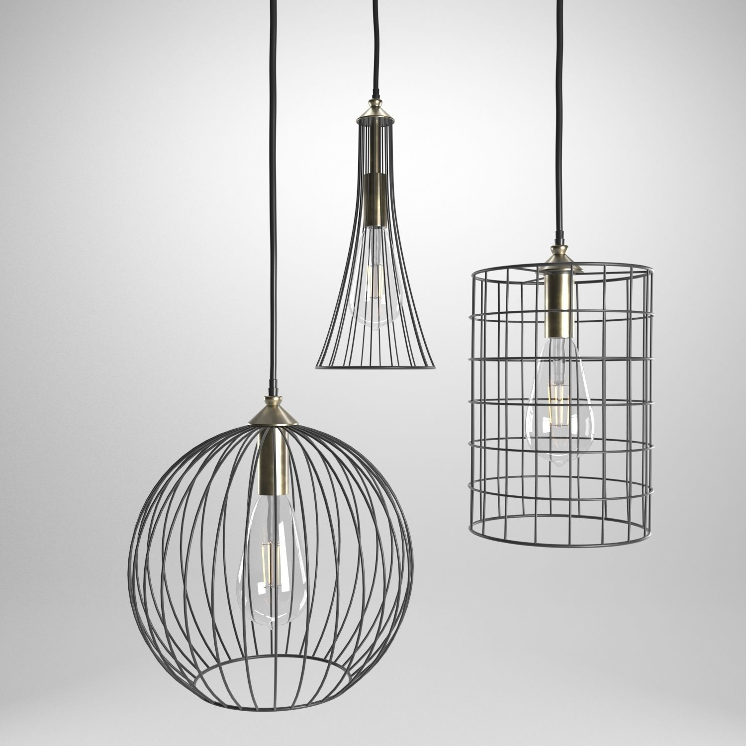 Wire Lamps 3D model | CGTrader