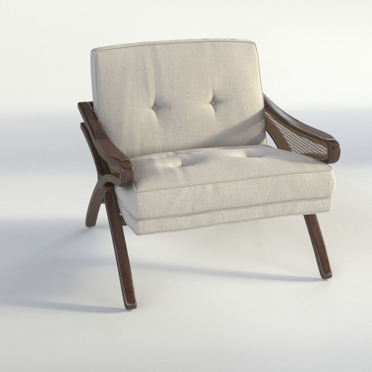 ... Caned Chair 3d Model Max Obj 3ds Dwg Mtl 4 ...