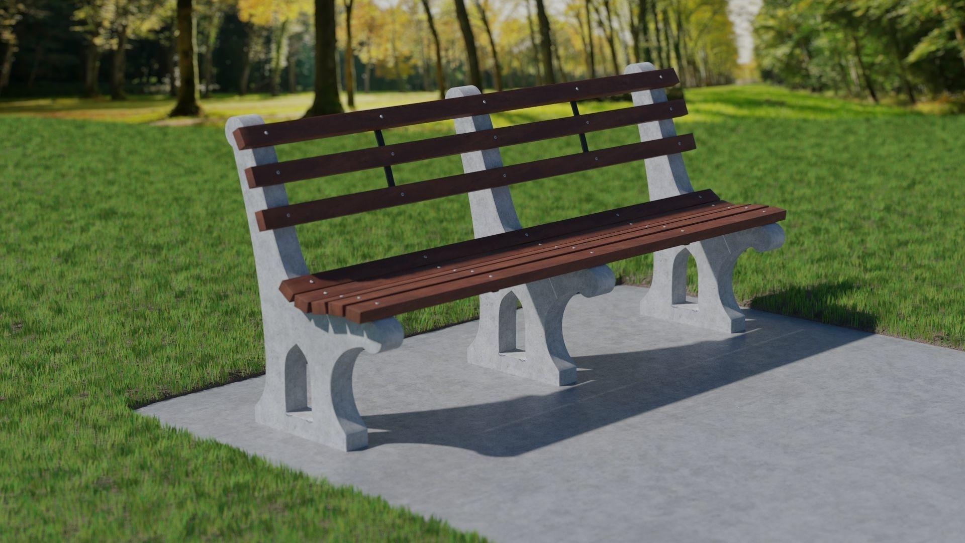 Fantastic Park Bench 3D Model Alphanode Cool Chair Designs And Ideas Alphanodeonline
