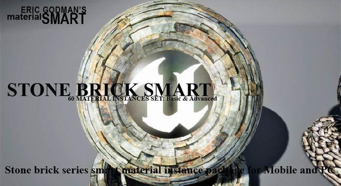 stone brick materials 3d model  1