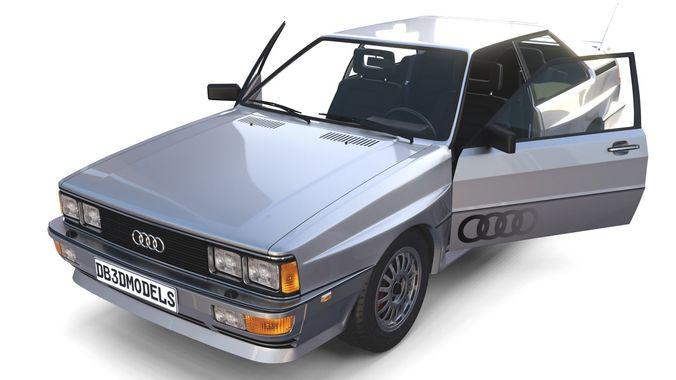 1981 audi coupe quattro with interior silver 3d model obj mtl fbx stl blend dae 1