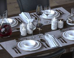 3D model wine TableWare