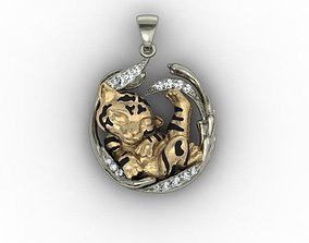 baby tiger necklace 3D printable model