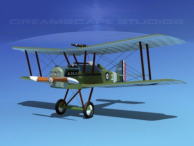 raf se5a fighter v03 3d model max obj mtl 3ds lwo lw lws dxf stl 1