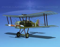 3d model raf se5a fighter v05 rigged