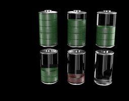 3D Battery symbols