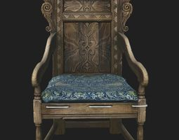 Wainscott chair 3D model