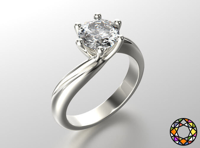 Engagement ring with set of sizes 0073