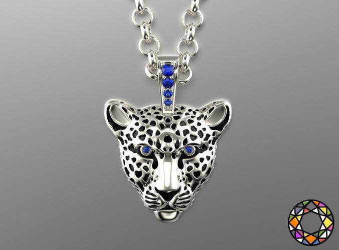 light leopard pendant with enamel 0076 v3 3d model obj mtl fbx ma mb stl 1
