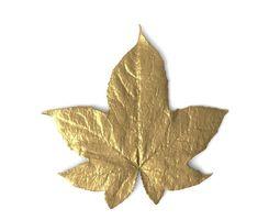 3D Golden Leaf Ornament