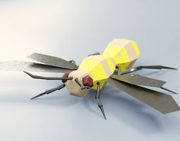3D asset Abstract LowPoly PBR Wasp