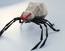 Abstract LowPoly PBR Spider 3D asset