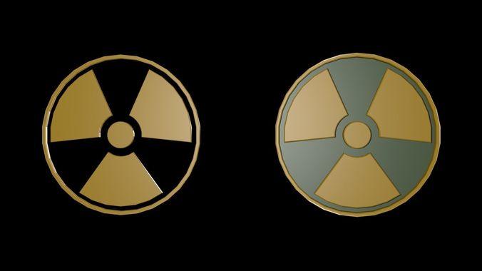 low poly symbols of radiation 3d model low-poly obj mtl 3ds fbx blend x3d ply 1