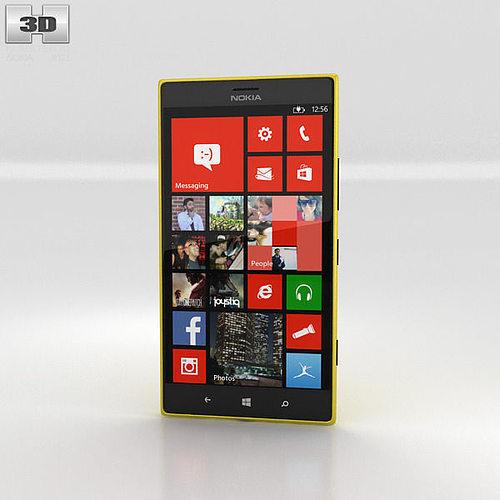 nokia lumia 1520 yellow 3d model max obj 3ds fbx c4d lwo lw lws 1