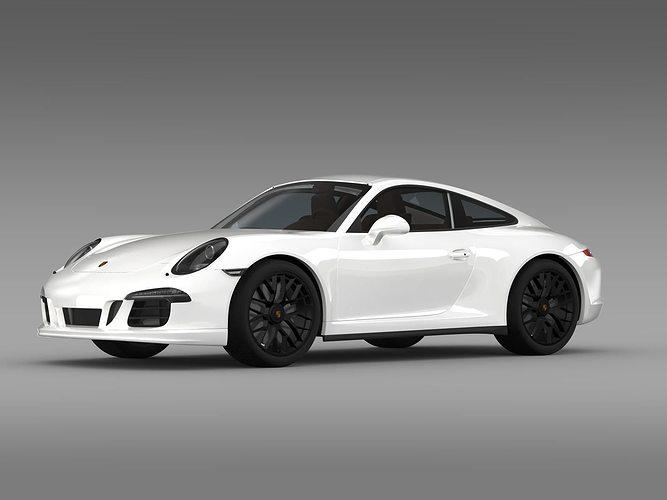 porsche 911 carrera 4 gts coupe 991 2015 3d model max obj 3ds fbx c4d lwo - 2015 Porsche 911 Coupe